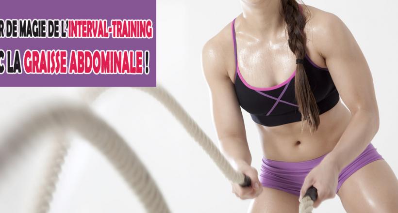 interval-training avec la graisse abdominale