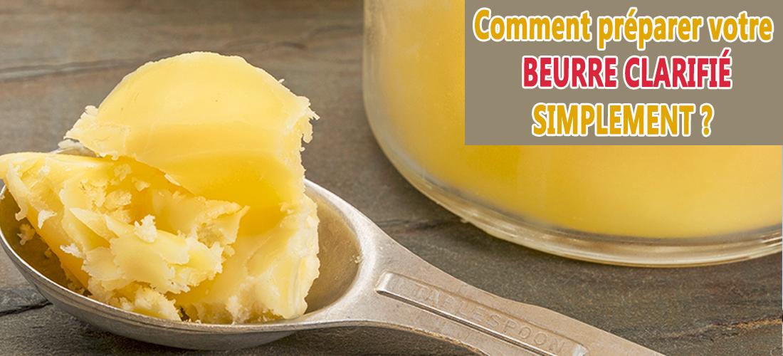 beurre clarifié ou beurre ghee