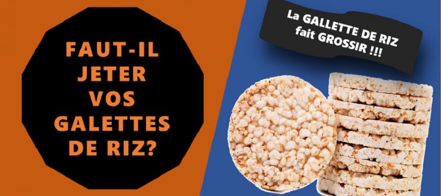 Pourquoi les galettes de riz font grossir!